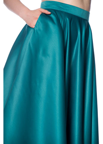 Banned Miracles 50's Swing Skirt Teal