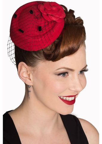 Banned Marilyn Fascinator Red