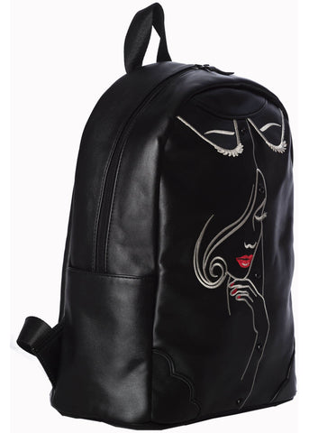 Banned Model Face Backpack Black