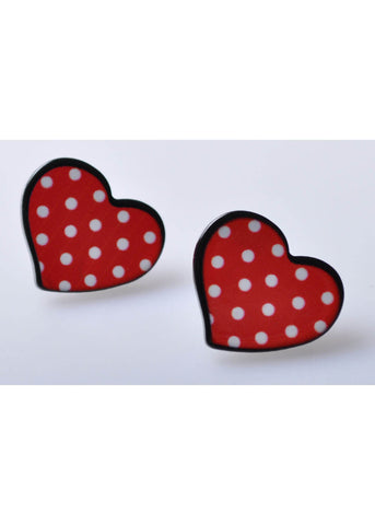 Succubus Polkadot Love Cartoon Earrings