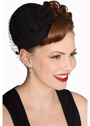 Banned Marilyn Fascinator Black