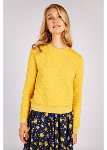 Louche Jan Spot Jacquard Jumper Mosterd Color