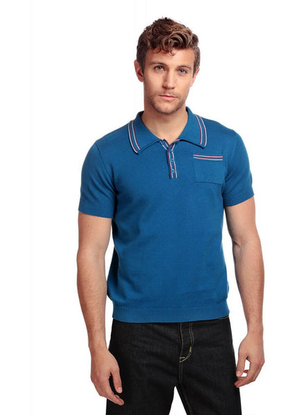 Collectif Heren Pablo Polo Shirt Blue