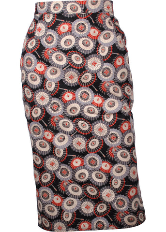 Victory Parade Parasol 50's Pencil Skirt Black