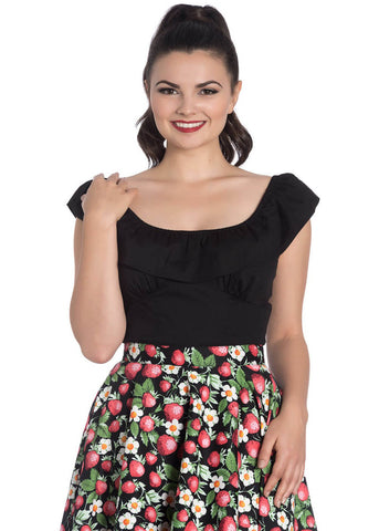 Hell Bunny Rio 50's Top Black