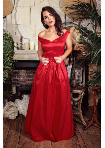 Collectif Miss Scarlet Maxi Gala Dress Red