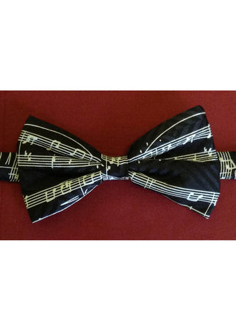 The Tie Studio Manuscript Bow Tie in Box Black