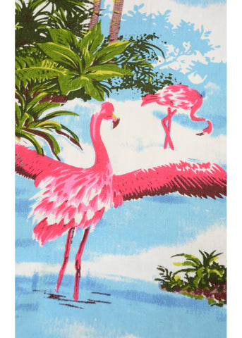 Run and Fly Gentlemens Flamingo Island Shirt Blue