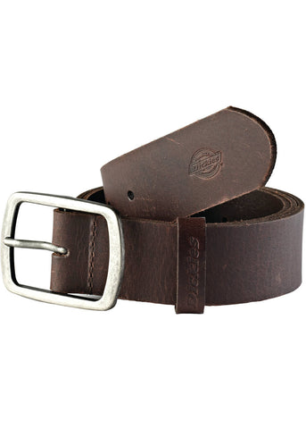 Dickies Mens Eagle Lake Buffalo Leather Belt Brown
