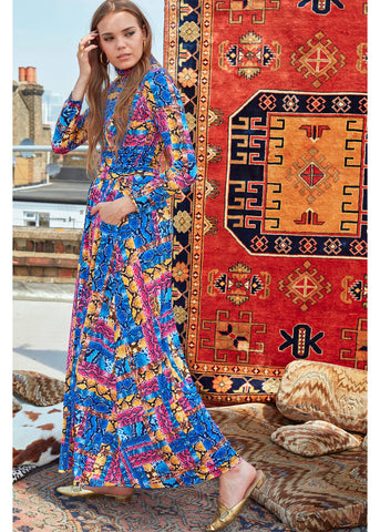 Onjenu Lauren Majorelle 70's Maxi Dress Multi