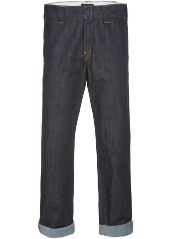 Dickies Mens 873 Denim Slim Straight Trousers Rinsed
