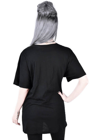 Killstar Black Cats Relaxed T-Shirt Black