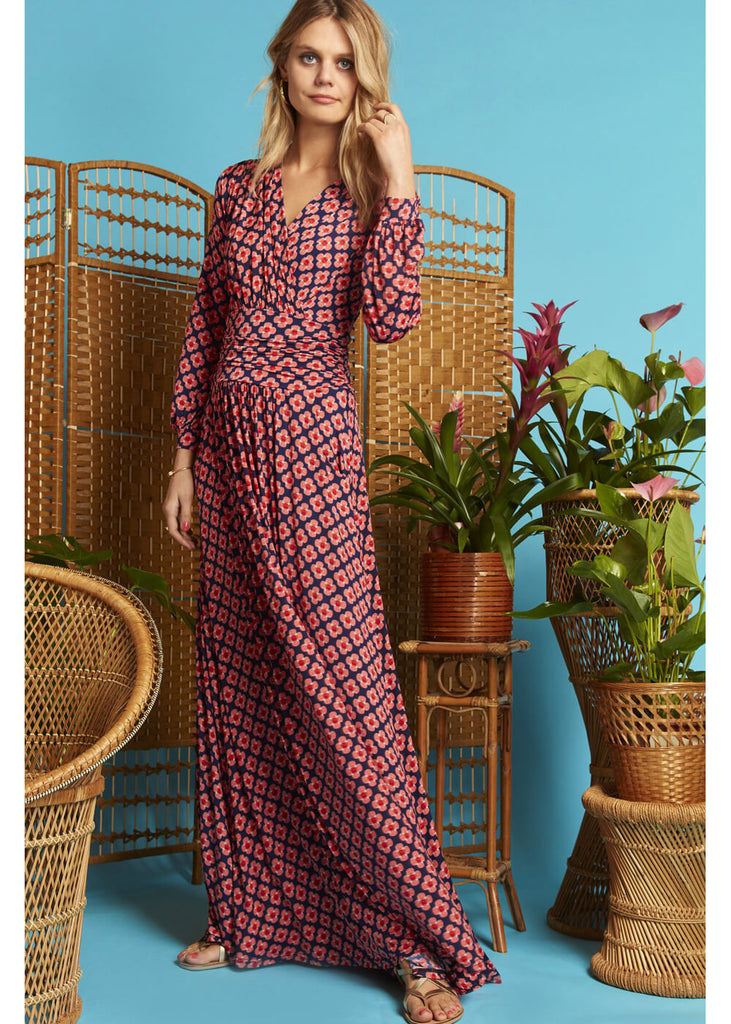 9fc78cfcca5 Onjenu Sharon Shell 70 s Maxi Dress Coral ♥ Shop now at Succubus