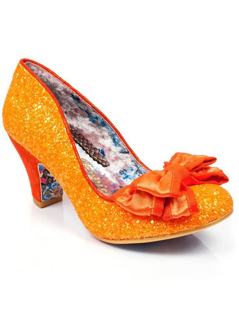 Irregular Choice Ban Joe Pumps Orange Glitter