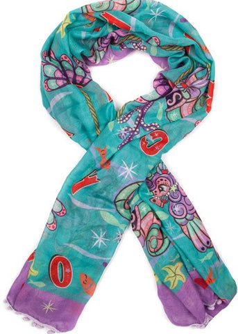 Irregular Choice Carousel Parade Shawl Turquoise