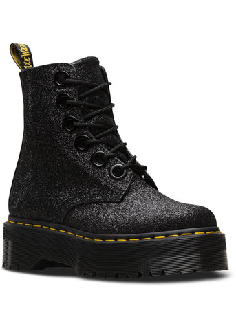 Dr. Martens Molly Glitter Lace Boots Black