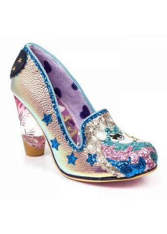 Irregular Choice Lady Misty Unicorn Heel Gold