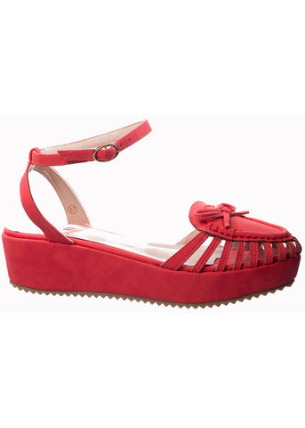 Banned Alabama Angie Plateau Sandals Red