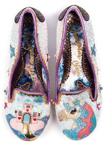 Irregular Choice Little Misty Unicorn Heels White