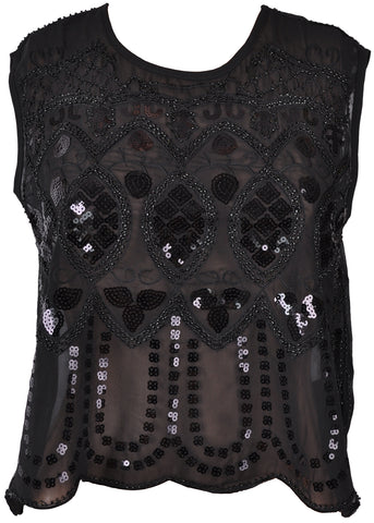Banned Gentle Sparkle 20's Top Black