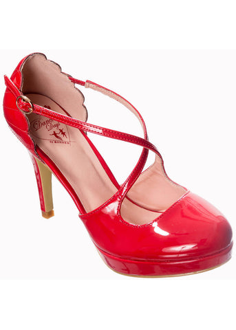 Banned Riverside Rae 50's Pumps Red