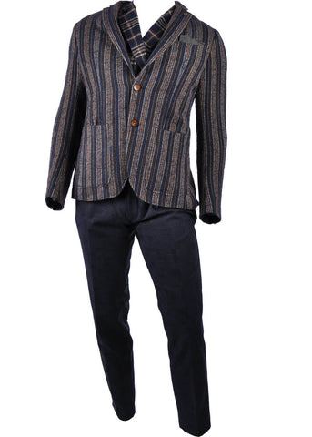 Club of Gents Saville Row Casey Stripe Jacket Navy