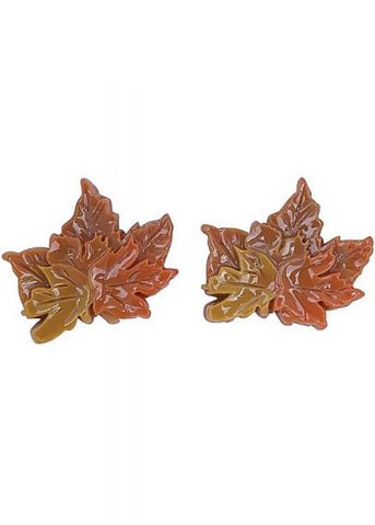 Collectif Autumn Leaves 60's Earrings Multi