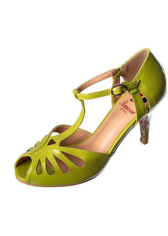 Banned Secret Love 50's Pumps Olive Green
