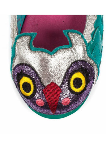 Irregular Choice Kids Mini Harold Uil Flats Blue