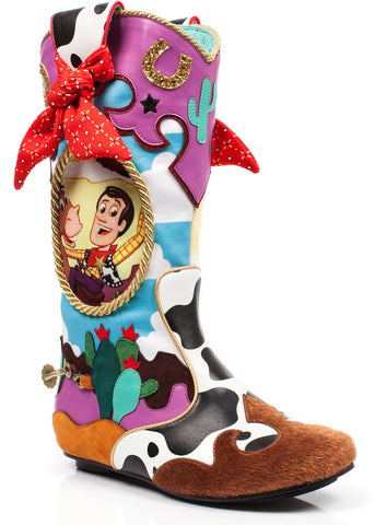 Irregular Choice Toy Story Ride Like The Wind Boots