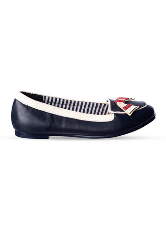 Banned St Tropez 60's Flats Navy