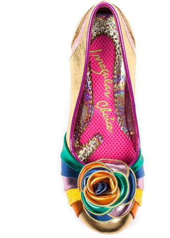 Irregular Choice Stupenda Pumps Gold Colour