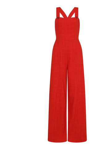 Bright & Beautiful Mila 70's Jumpsuit Orange Colour