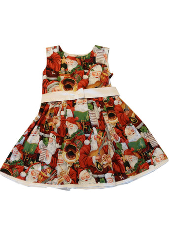 Victory Parade Kids Musical Santa Christmas Dress