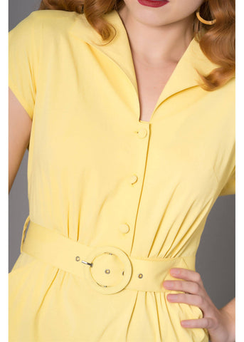 Sheen Josie 40's Dress Yellow