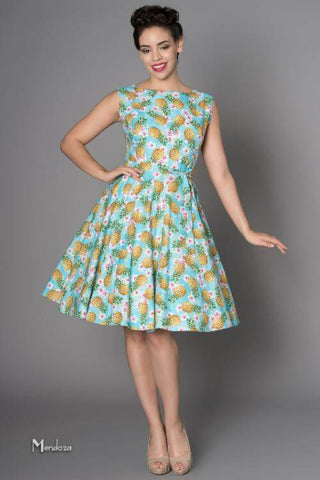 Victory Parade Rosa Pineapple 50's Swing Dress