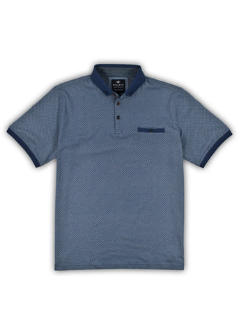 Baileys Mens Maze Polo Shirt Blue
