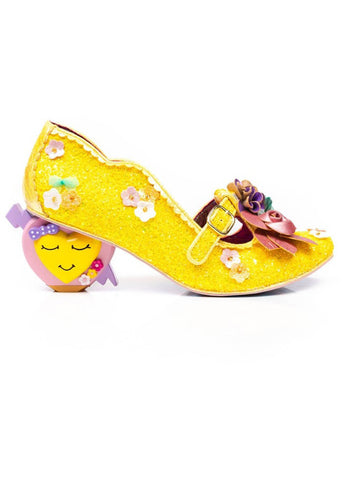 Irregular Choice Amare Heart Pumps Gold