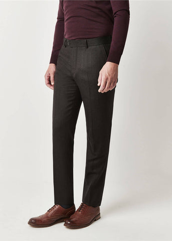 Gibson London Daniel Herringbone Trousers Forest