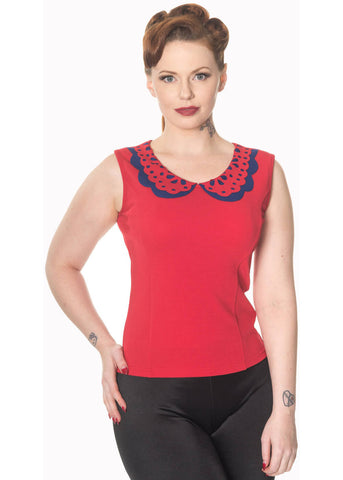 Banned Naomie 40's Top Red