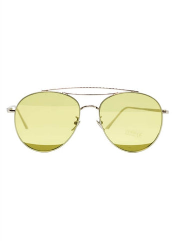Bright & Beautiful Willow 70's Sunglasses Green