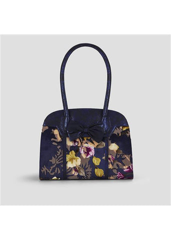 Ruby Shoo Denver Floral 50's Bag Navy