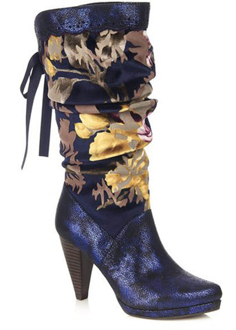 Ruby Shoo Athena 70's Boots Navy