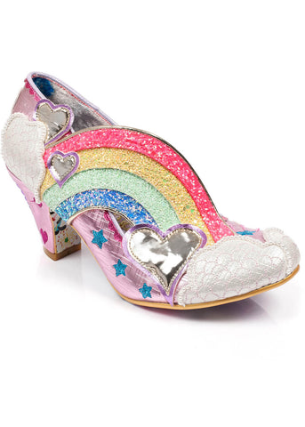 Irregular Choice Summer of Love Rainbow Heels Pink