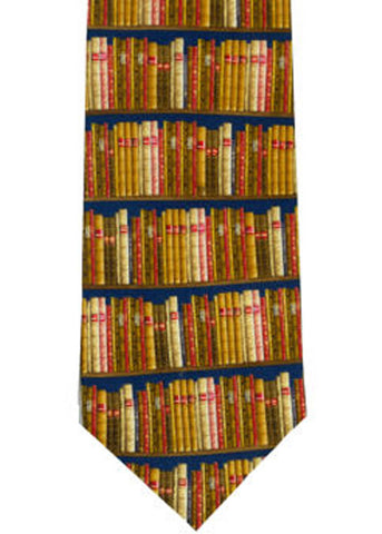 The Tie Studio Books On Shelves Tie Silk
