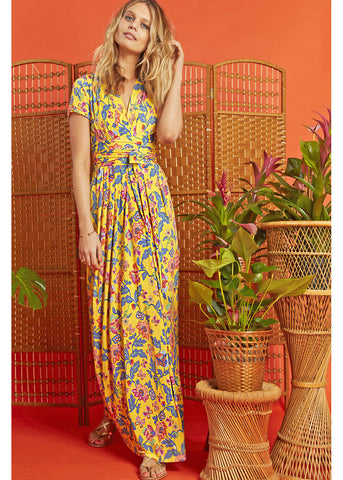 Onjenu Pitot Santa Maria 70's Maxi Dress Yellow