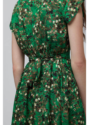 Louche Melita Floral 40's Dress Green