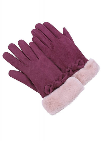 Collectif Princess 50's Gloves Burgundy