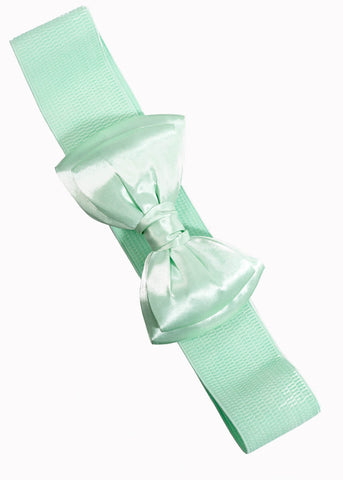 Banned Maria Bow Elastic 50's Belt Mint