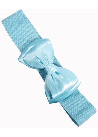 Banned Maria Bow Elastic 50's Belt Baby Blue
